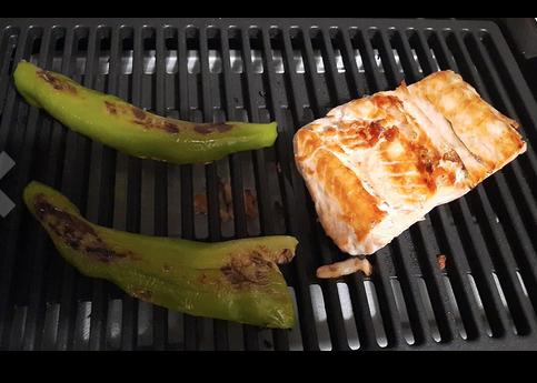 cocinado de pescado y verduras en tristar bp-2780